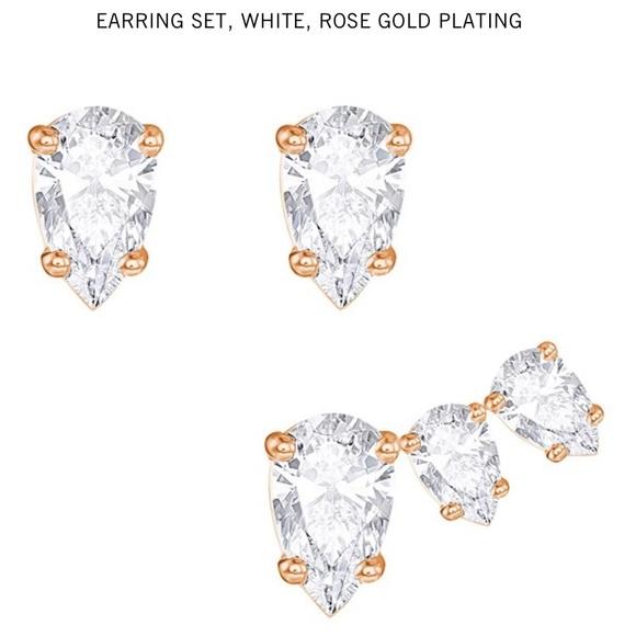 9f913389d Swarovski Jewelry | Sale Attract Pear Pierced Earrings Set | Poshmark